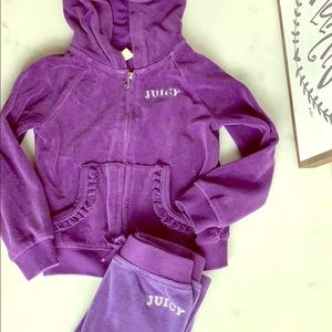 Juicy Couture sweatsuit in 3T